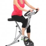 Exerpeutic 1200 Folding Magnetic Upright Bike with Pulse small3