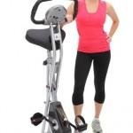 Exerpeutic 1200 Folding Magnetic Upright Bike