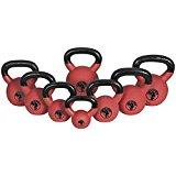 Kettlebell Red rubber haltères de 4 à 32 Kg Gorilla sports